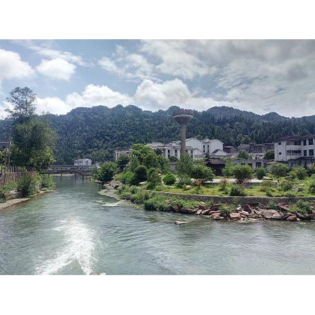 город на реке в азии