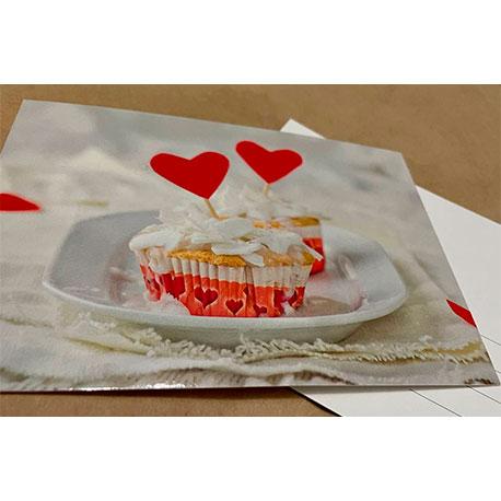 кекс с сердцами