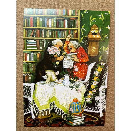 бабушки шутят по телефону от финской художницы Inge Look
