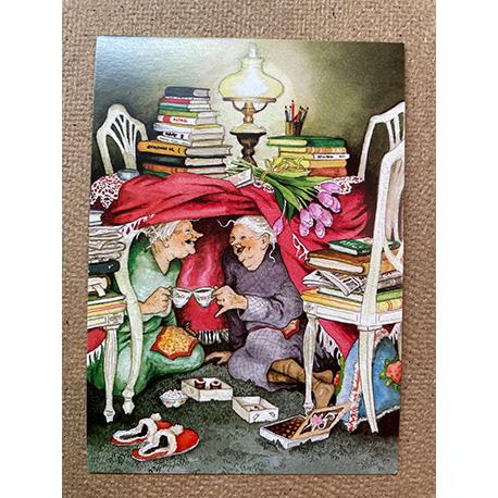 бабушки пьют чай от финской художницы Inge Look