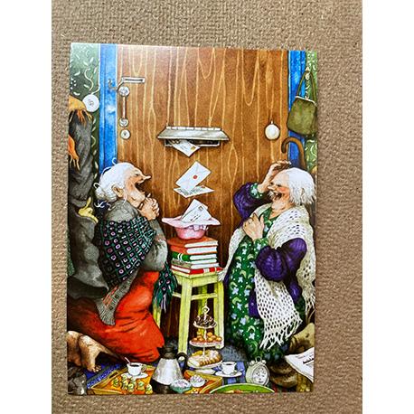 бабушки получают почту от финской художницы Inge Look