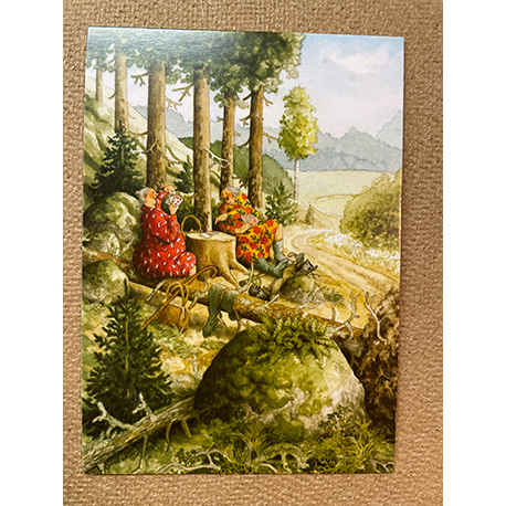 бабушки в лесу от финской художницы Inge Look