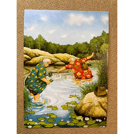 бабушки на озере от финской художницы Inge Look