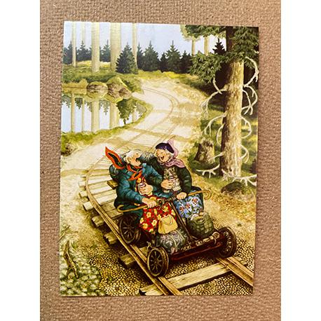 бабушки на жд от финской художницы Inge Look