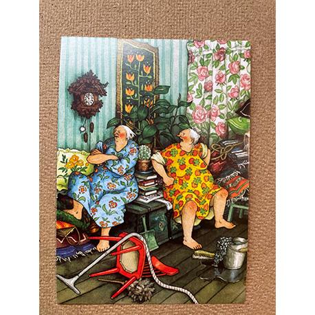 бабушки в ссоре от финской художницы Inge Look