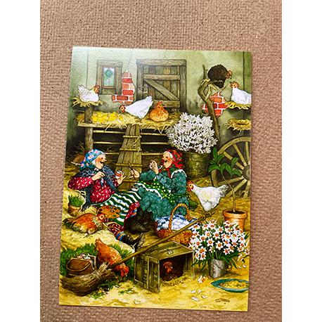 бабушки в курятнике от финской художницы Inge Look