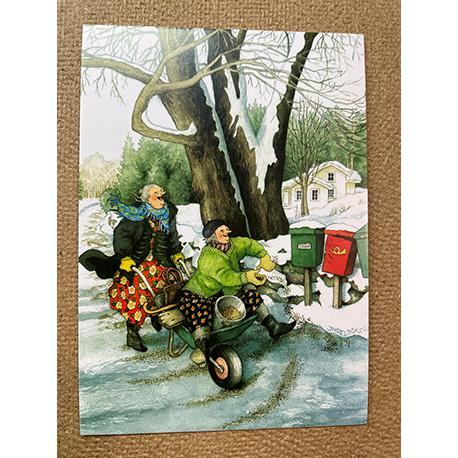 бабушки зимой от финской художницы Inge Look