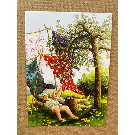 бабушки на огороде от финской художницы Inge Look