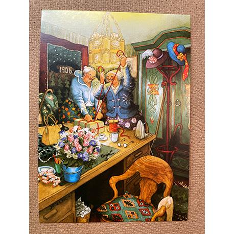 бабушки покуют подарки от финской художницы Inge Look