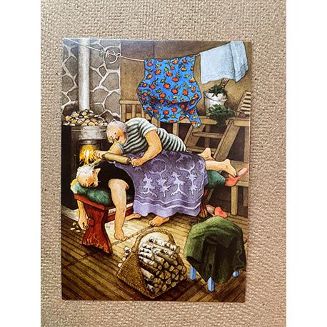 бабушки делают массаж от финской художницы Inge Look