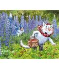 синие коты собирают ягоды