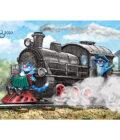 синие коты катаются на поезде